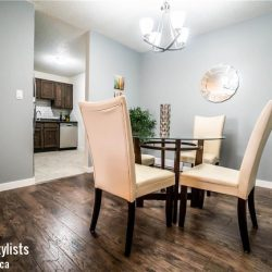Dining room with our Winnipeg home staging service.